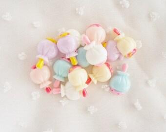 10pcs - Cute Pastel Lollipop Mix Decoden Cabochon (20x13mm) CY10026