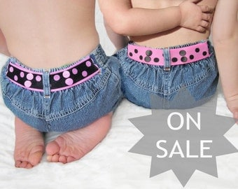 Girl Belt Reversible - Pink & Black