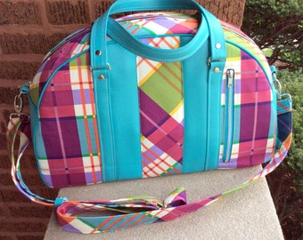 Oversized Handbag / Overnight Carry-on Bag / Hipster Mom Diaper Bag / Retro Bowling Bag / Swoon Patterns Betty Bowler