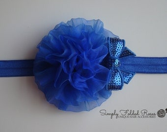 Royal Cabbage Flower headband - stretch headband