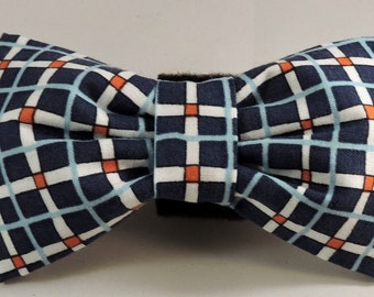 Dog Flower, Dog Bow Tie, Cat Flower, Cat Bow Tie - Blue Plaid, A Hole In One