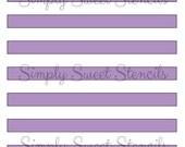 Medium Stripes Stencil
