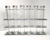 RESERVED FOR ELAINE - For Storage or Display: Glass Bottles in Rack