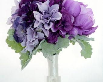 SALE Vision in Violet Bridal Bouquet