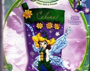 Disney Fairies Tinker Bell and Friends Embroidery Kit with felt and Othere Decor 2007