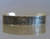 Wide silver cuff bracelet, Mens silver cuff bracelet, Sterling silver hammered cuff made to order ,Mens jewelry