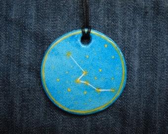 Taurus Jewellrey -Zodiac pendant,Constellation Zodiac Jewellery - Astrology - Astronomy - Constellation on Blue