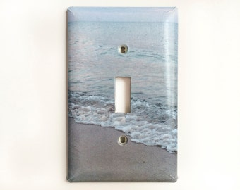 Light Switch Plates, Single Toggle, Ocean Wave