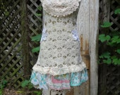 Victorian Top,Wedding,Romantic Top,Magnolia,Shabby Chic Top,Boho,by Nine Muses Of Crete