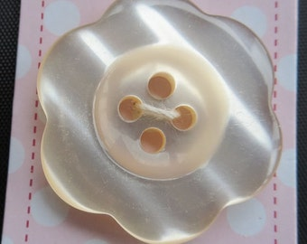 STORE CLOSING Sale Riley Blake Cream Pearl Flower 1 inch button (4)