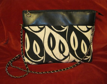 Upcycled Clutch Shoulderbag with Chain Strap