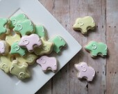 Elephant Iced Sugar Cookies - Mini (2 Dozen)
