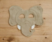 SUMATRAN ELEPHANT- New- 2015 Mask of the Month Club Endangered Collection