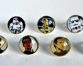Upcycled Comic Book Ring Featuring Star Wars and Star Trek