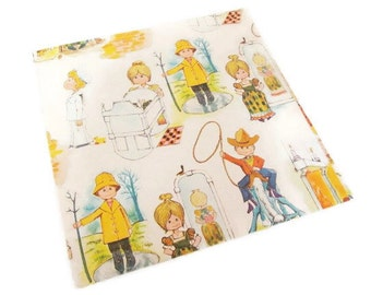 Vintage Wrapping Paper - Children Dress Up Gift Wrap - All Occasion Gift Wrap Tie Tie