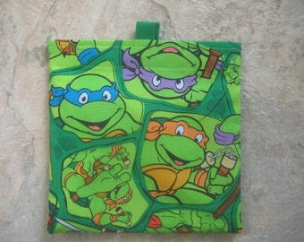 Mutant Ninja Turtle Reusable Snack Bag, Reusable Sandwich Bag with easy open tabs