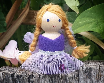 Peg Doll - Fairy Doll  - Waldorf Peg People - Fairy Garden