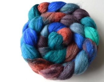 Hand Dyed Polwarth & Silk Spinning Felting Fiber