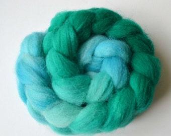 Hand Dyed Shetland Spinning Roving  Felting Fiber