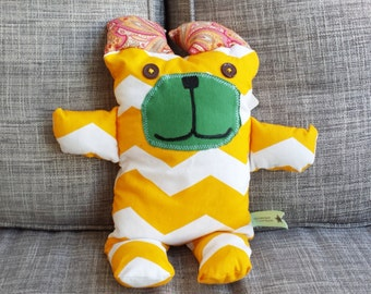 BEAR LOVE Fabric Friend Plush - A Delightful Mix of Vintage and New Materials