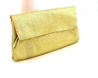 60s Evening Bag  Metallic Gold Clutch Envelope Clutch Small Gold Evening Purse 1960s Lady Buxton Gold Wallet Clutch Metallic Gold Purse