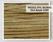DIRT ROAD 1240 Weeks Dye Works WDW hand-dyed embroidery floss cross stitch thread at thecottageneedle.com