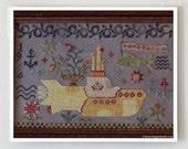 cross stitch patterns : Yellow Submarine Blackbird Designs The Beatles hand embroidery