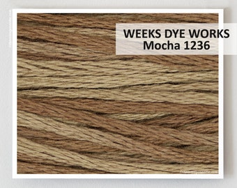 MOCHA 1236 : Weeks Dye Works WDW hand-dyed embroidery floss cross stitch thread at thecottageneedle.com