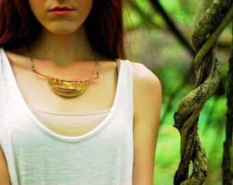 Multi Metal Amulet Statement Necklace - Talisman Necklace