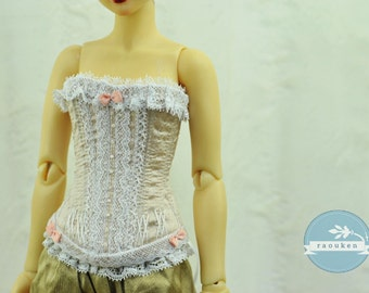 Ice Pink BJD Antique Line Corset for Narae