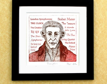 HAYDN - a portrait art print of the great Austrian composer
