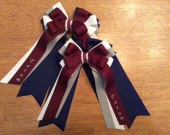 Horse Show Hair Bows - Personalized With Name