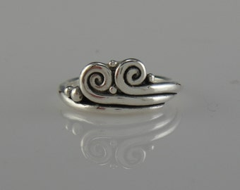 Sterling Silver Double Swirl Ring- One of a Kind