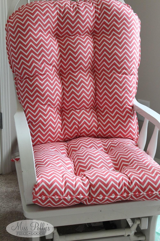 Custom chair cushions glider rocking