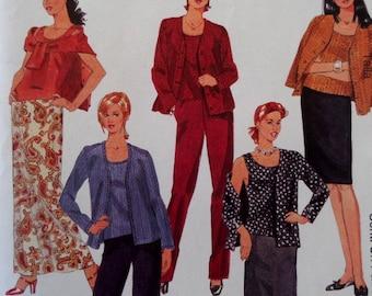 CARDIGAN SET Pattern • McCall's 2315 • Miss 12-16 • Elastic Pull-On Pants Pattern • Pull-On Skirt Pattern • Modern Pattern • WhiletheCatNaps