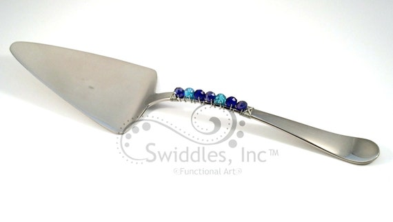 Beaded And Wire Wrapped Cake Server