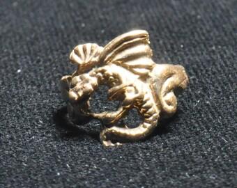 Bronze Dragon Earcuff