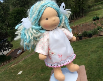"""Waldorf doll clothes, vintage linens for 10-12"""""""