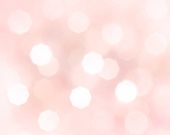 """Rose Pink Pale Pastel Bokeh Background - 12"""" x 12"""""""