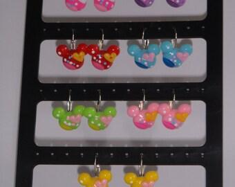 Mickey Mouse Inspired Dangle Earrings