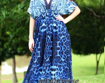 Dress Women Plus Sizes Clothing Long Maxi Dress Blue Dress Summer Sundress