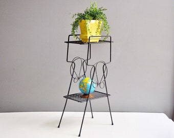 Atomic Metal Plant Stand or Side Table