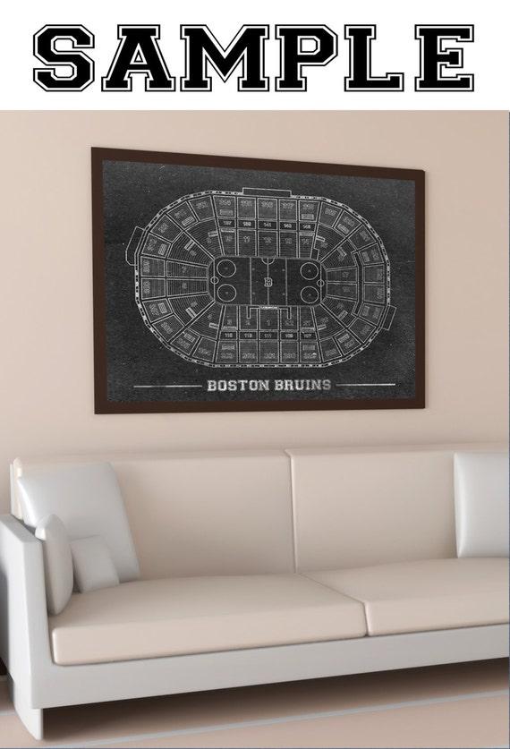 CUSTOM - Your Sports Team Seating Chart Custom Stadium Baseball Football Basketball Hockey Arena nfl nba mlb nhl on Photo Matte or Canvas