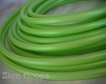 "3/4"" YellowGreen Colored HDPE performance hula hoop // Push button collapsible // Colorado Kind"