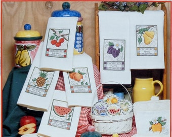 Stoney Creek Collection FRUIT TARTS & TOWELS (Multiple Designs)  - Counted Cross Stitch Pattern Chart Booklet
