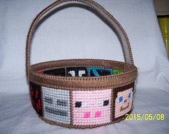 Minecraft Basket  /Easter  Basket