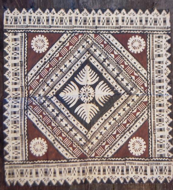 Fiji tapa cloth fijian masi cloth wall hanging artwork - Cloth wall hanging designs ...