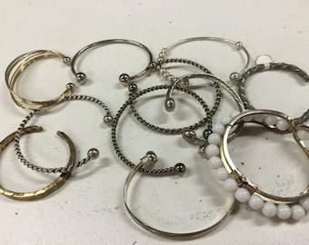 SALE! Metal Cuff Style Bracelets Vintage lot 355
