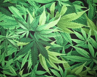 Marijuana Pot Weed Plant 420 Cotton Fabric Fat Quarter or Custom  Listing