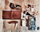 Pipe, Cigar & Tobacco Pouch * The Clemens * Brown Leather
